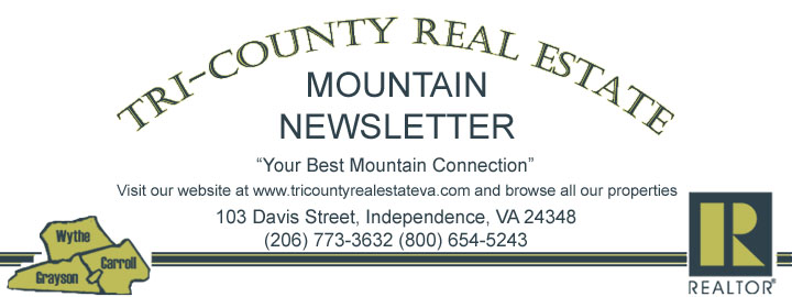 Tri-County Real Estate Mountain Newsletter